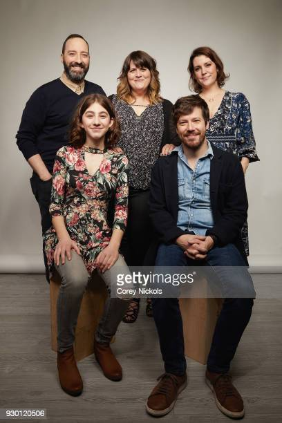Tony Hale Sophia Mitri Schloss Megan Griffiths John Gallagher Jr and Melanie Lynskey from the film 'Sadie' poses for a portrait in the Getty Images...