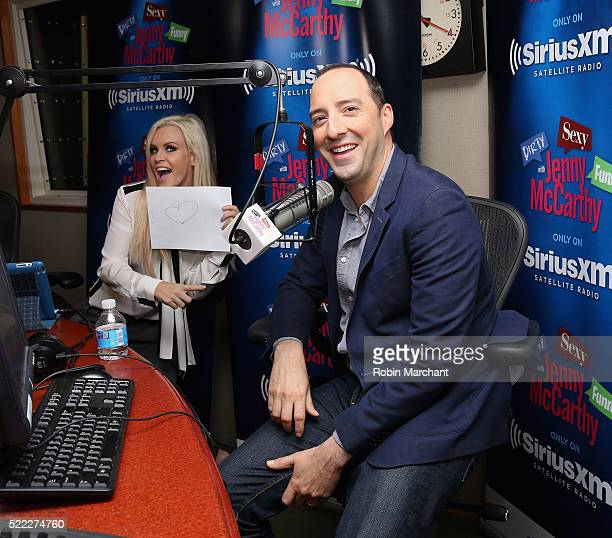 Tony Hale visits 'Dirty, Sexy, Funny with Jenny McCarthy' at SiriusXM Studio on April 18, 2016 in New York City.