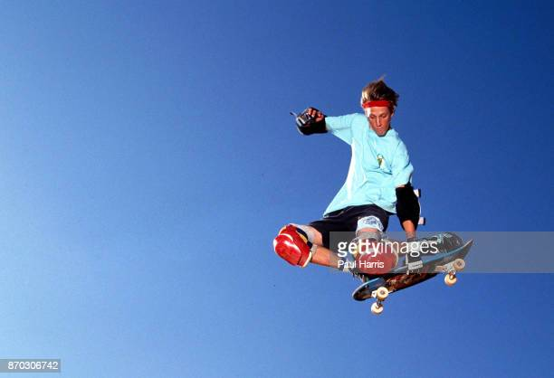 Tony Hawk 18 years old practices in his back yard on one of the ramps he built for his friends and himself In 1986 he was making in excess of $...