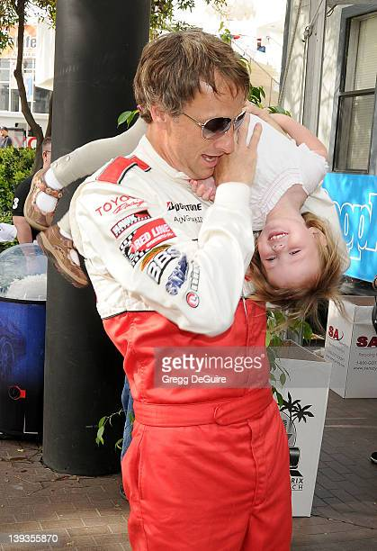 Tony Hawk and daughter Kadence Clover Hawk pose at race day for the 34th Annual Toyota Pro/Celebrity Race at the Long Beach Grand Prix on April 17...