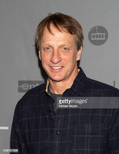 Tony Hawk arrives at 3rd Annual Mammoth Film Festival Red Carpet - Saturday on February 29, 2020 in Mammoth Lakes, California.