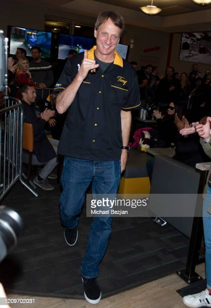 Tony Hawk arrives at 3rd Annual Mammoth Film Festival Red Carpet Saturday on February 29 2020 in Mammoth Lakes California