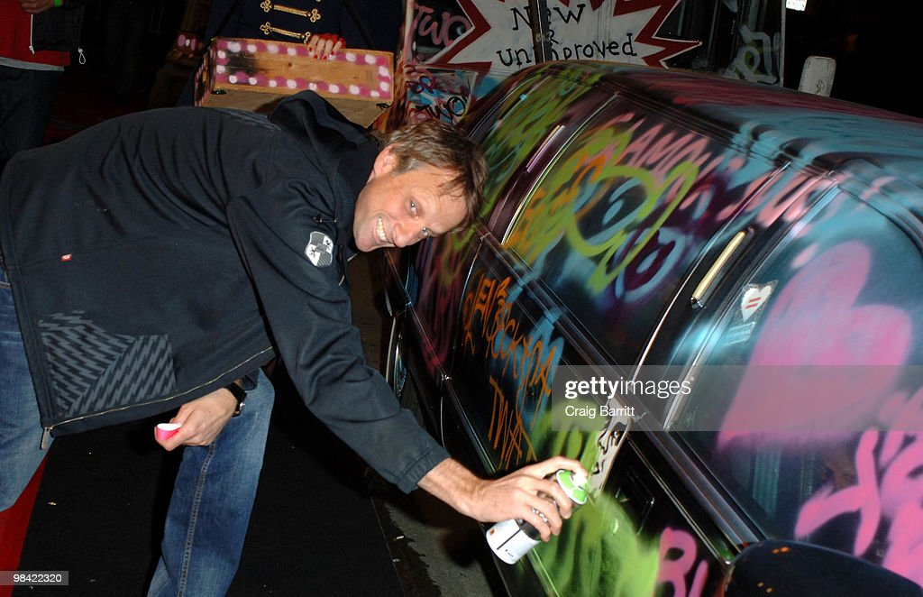 Tony Hawk arrives at Banksy's 'Exit Through The Gift Shop' Los Angeles Premiere on April 12, 2010 in Los Angeles, California.