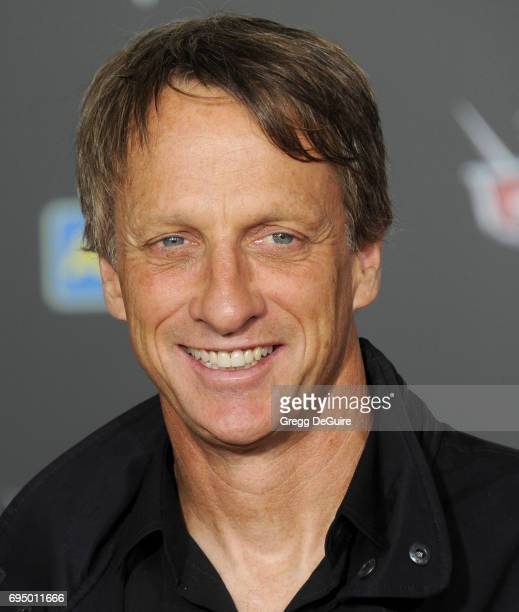 Tony Hawk arrives at the premiere of Disney And Pixar's 'Cars 3' at Anaheim Convention Center on June 10 2017 in Anaheim California
