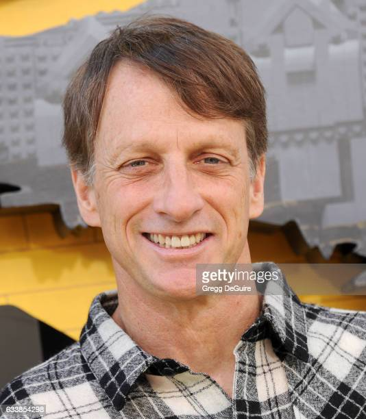 Tony Hawk arrives at the premiere of Warner Bros Pictures' 'The LEGO Batman Movie' at Regency Village Theatre on February 4 2017 in Westwood...