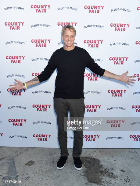 Tony Hawk attends Hilarity For Charity's County Fair hosted by Seth Rogen Lauren Miller Rogen at The Row on September 14 2019 in Los Angeles...