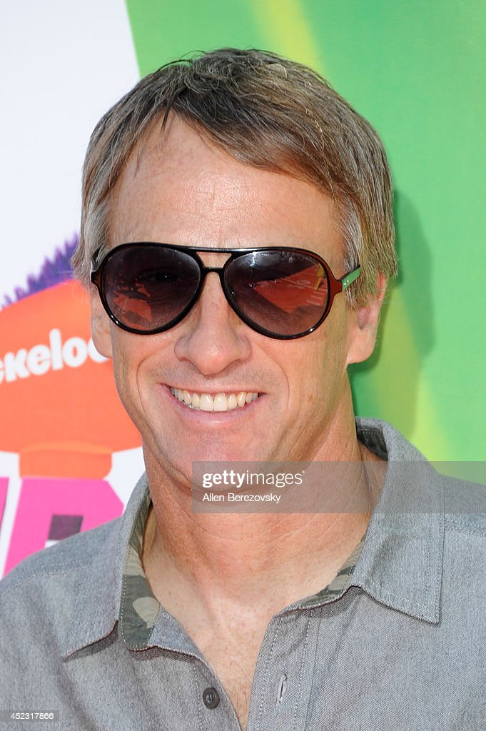 Tony Hawk attends Nickelodeon Kids' Choice Sports Awards 2014 at Pauley Pavilion on July 17, 2014 in Los Angeles, California.
