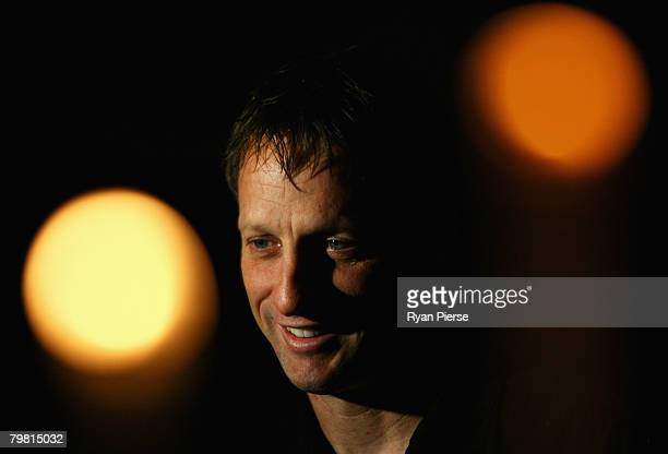 Tony Hawk attends the Laureus Academy and Nominees reception at Hotel Kempinski on February 17 2008 in StPetersburg Russia