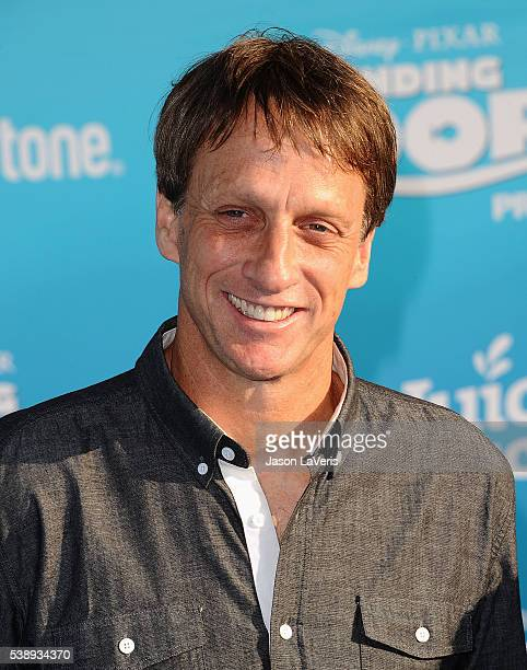 Tony Hawk attends the premiere of 'Finding Dory' at the El Capitan Theatre on June 8 2016 in Hollywood California