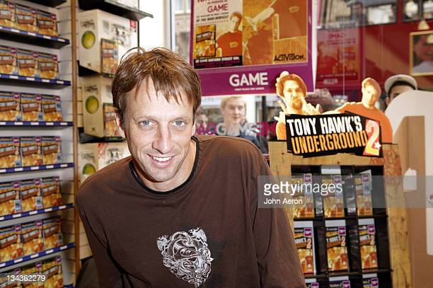 Tony Hawk during Tony Hawk's Underground 2 InStore Signing at GAME Oxford Street in London Great Britain