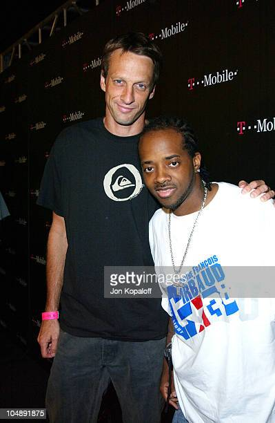 """Tony Hawk & Jermaine Dupri during T-Mobile Action Sports Team Hosts """"Action-Packed"""" - Arrivals at ArcLight Cinema Rooftop in Hollywood, California,..."""