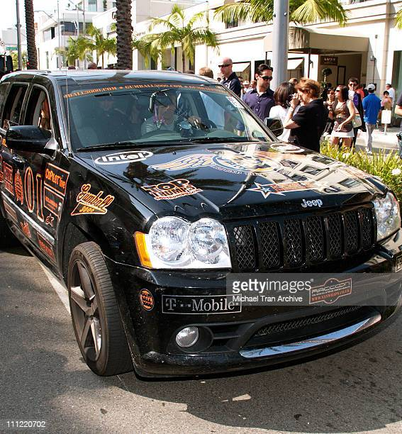 Tony Hawk's JEEP SRT8 during Gumball Rally 3000 Los Angeles at Finish Line on Rodeo Drive in Beverly Hills CA United States