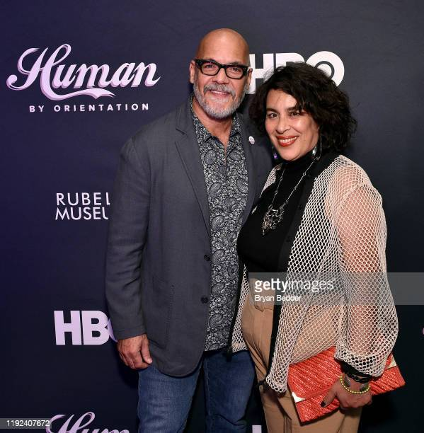 Tony Hernandez and Muriel Parra attend HBO's Human By Orientation panel at Art Basel Miami at Rubell Family Collection on December 06 2019 in Miami...