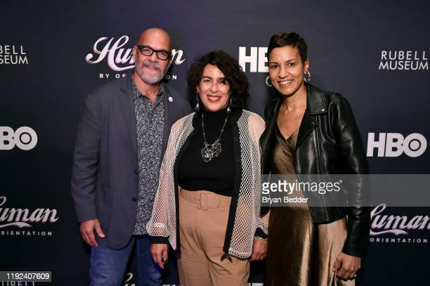 Tony Hernandez Muriel Parra and Jackie Gagne attend HBO's Human By Orientation panel at Art Basel Miami at Rubell Family Collection on December 06...