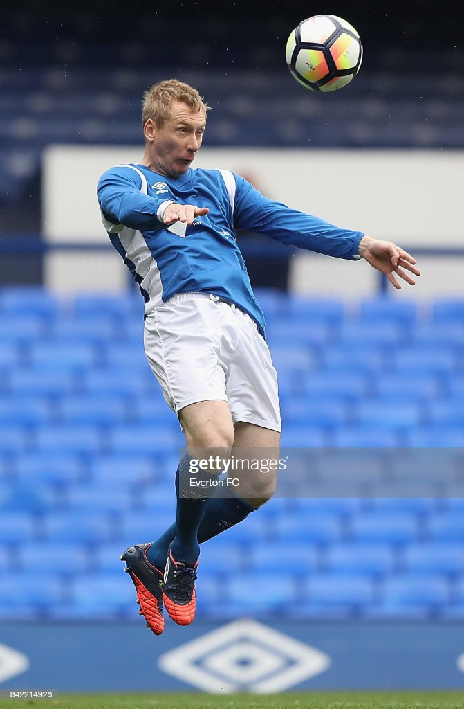 Tony Hibbert of Bradley's Blues in action during the Bradley Lowery Charity Game at Goodison Park on September 3, 2017 in Liverpool, England.