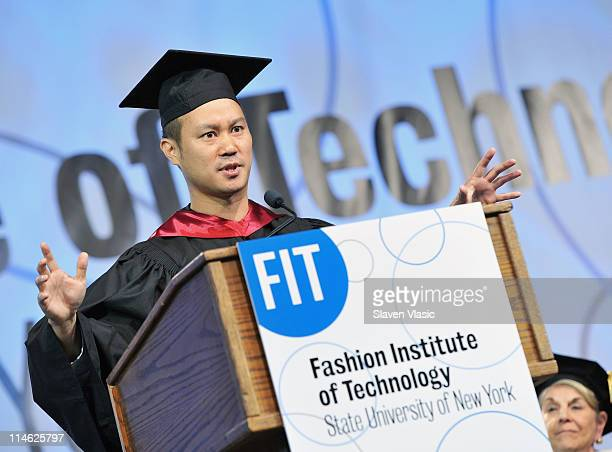 Tony Hsieh, CEO of Zappos.com attends the Fashion Institute of Technology 2011 commencement at Jacob Javits Center on May 24, 2011 in New York City.