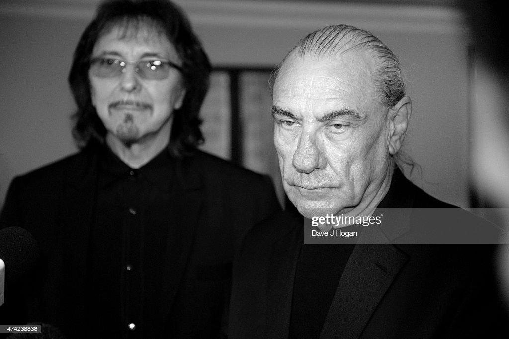 Tony Iommi and Bill Ward at the Ivor Novello Awards at The Grosvenor House Hotel on May 21, 2015 in London, England.