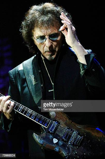 Tony Iommi and Heaven and Hell perform in support of the bands 'Heaven and Hell Live 2007' release at the HP Pavilion on April 24 2007 in San Jose...