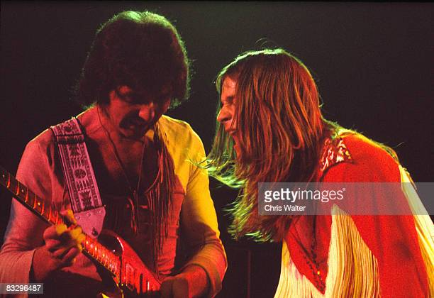 Tony Iommi and Ozzy Osbourne of Black Sabbath 1974
