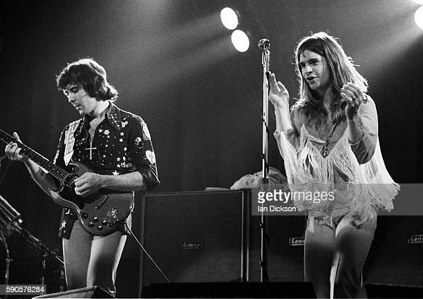 Tony Iommi and Ozzy Osbourne of Black Sabbath performing on stage at Rainbow Theatre London 16 March 1973