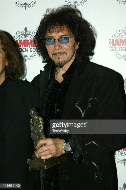Tony Iommi from Black Sabbath during The Metal Hammer Golden Gods Awards 2005 Arrivals Press Room at The Astoria in London Great Britain