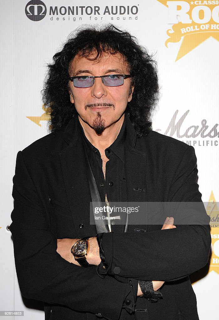 Tony Iommi from the rock group Black Sabbath attends the Classic Rock Roll Of Honour Awards at the Park Lane Hotel on November 2, 2009 in London, England.