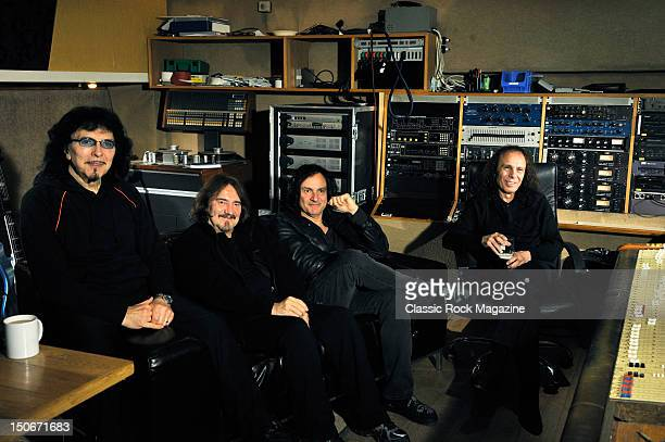 Tony Iommi, Geezer Butler, Vinny Appice and Ronnie James Dio of Heaven and Hell at the Rockfield Studios on July 25, 2007 in Monmouth.