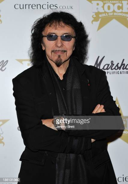 Tony Iommi of Black Sabbath attends the Classic Rock Roll Of Honour at the Roundhouse on November 10 2010 in London England