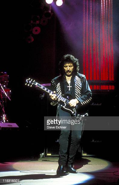 Tony Iommi of Black Sabbath during Black Sabbath in Concert at Ritz 1992 at Ritz in New York City New York United States