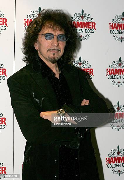 Tony Iommi of Black Sabbath during The Metal Hammer Golden Gods Awards 2005 Arrivals Press Room at The Astoria in London Great Britain