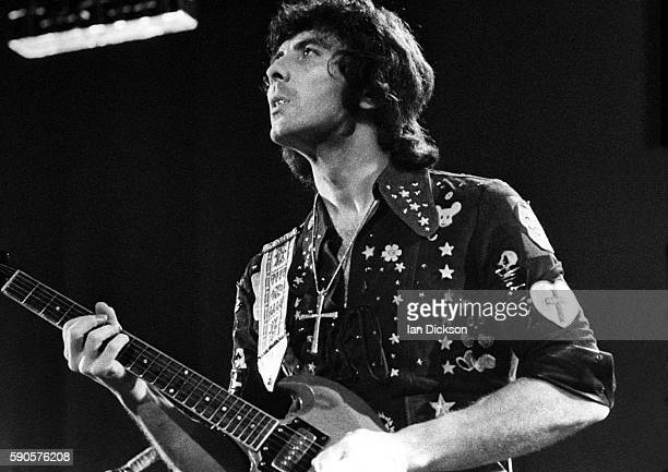 Tony Iommi of Black Sabbath performing on stage at Rainbow Theatre London 16 March 1973