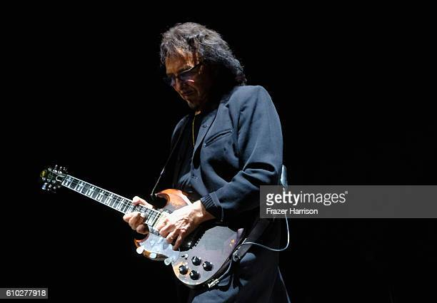 Tony Iommi of Black Sabbath performs at Ozzfest 2016 at San Manuel Amphitheater on September 24 2016 in Los Angeles California