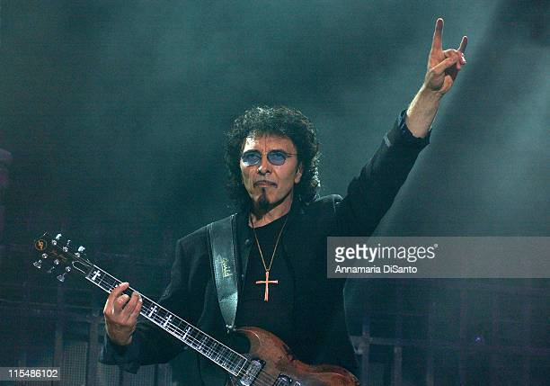Tony Iommi of Heaven and Hell during Heaven and Hell Live World Tour 2007 at Los Angeles Forum in Los Angeles CA United States