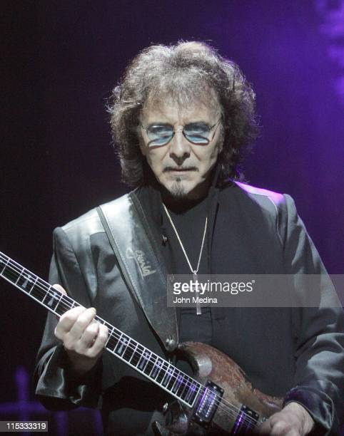 Tony Iommi of Heaven and Hell during Heaven and Hell Performs at the HP Pavilion in San Jose April 24 2007 at HP Pavilion in San Jose California...