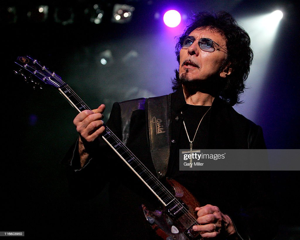 Tony Iommi of Heaven and Hell during Heaven and Hell Tour 2007 at the Verizon Wireless Amphitheater in San Antonio - May 1, 2007 at Verizon Wireless Amphitheater in San Antonio, Texas, United States.