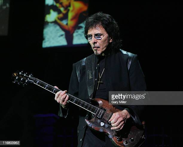 Tony Iommi of Heaven and Hell during Heaven and Hell Tour 2007 at the Verizon Wireless Amphitheater in San Antonio May 1 2007 at Verizon Wireless...