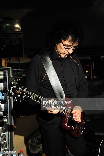Tony Iommi of Heaven and Hell recording at the Rockfield Studios on July 25, 2007 in Monmouth.