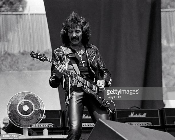 Tony Iommi performing with 'Black Sabbath' at the Day on the Green at the Oakland Coliseum in Oakland California on July 27 1980