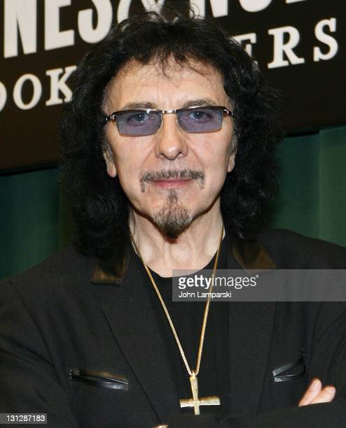 Tony Iommi promotes Iron Man My Journey Through Heaven and Hell with Black Sabbath at the Barnes Noble Tribeca on November 3 2011 in New York City