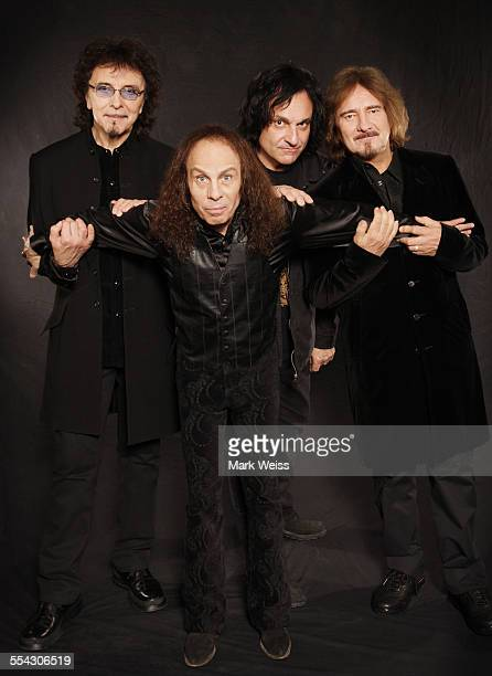 Tony Iommi Ronnie James Dio Vinny Appice and Geezer Butler of Heaven and Hell studio group portrait United States 2007