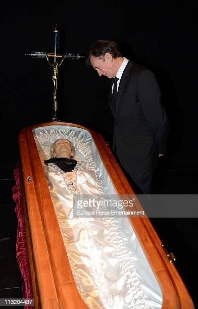 Tony Isbert attends the funeral chapel for Spanish actress Maria Isbert at Circo Theatre on April 26 2011 in Albacete Spain