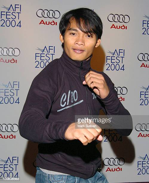 Tony Jaa during 2004 AFI Film Festival 'Ong Bak Thai Warrior' Premiere Arrivals at ArcLight Hollywood in Hollywood California United States