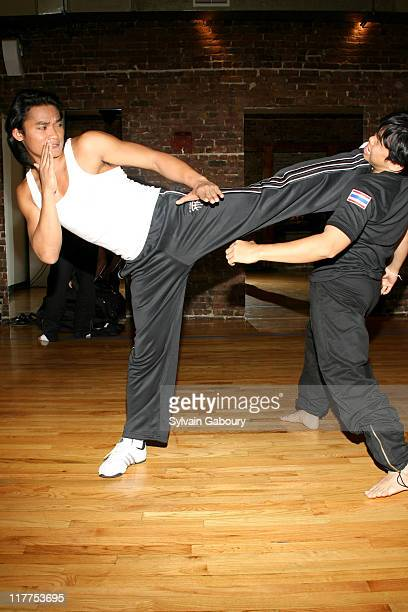 Tony Jaa during The Weinstein Company Hosts an Autograph Signing with Tony Jaa for 'The Protector' at The Wat Gym in New York New York United States