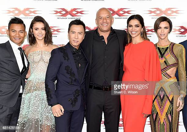 Tony Jaa Nina Dobrev Donnie Yen Vin Diesel Deepika Padukone and Ruby Rose attend the European Premiere of Paramount Pictures' 'xXx Return of Xander...