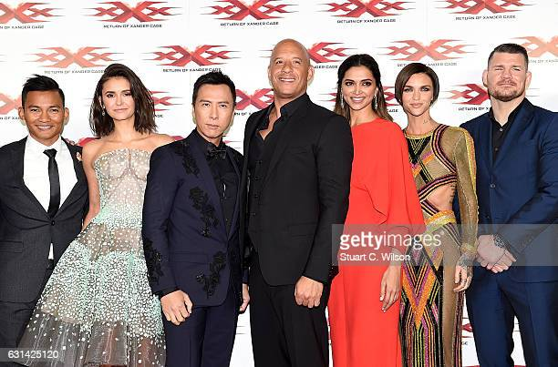 Tony Jaa Nina Dobrev Donnie Yen Vin Diesel Deepika Padukone Ruby Rose and Michael Bisping attend the European Premiere of Paramount Pictures' 'xXx...