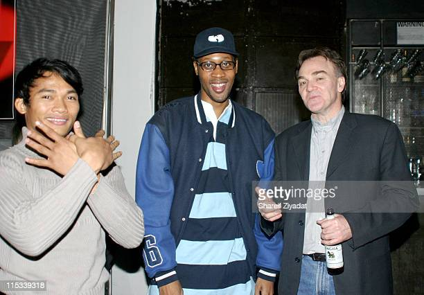 Tony Jaa Rza and Eamonn Bowles president of Magnolia Pictures