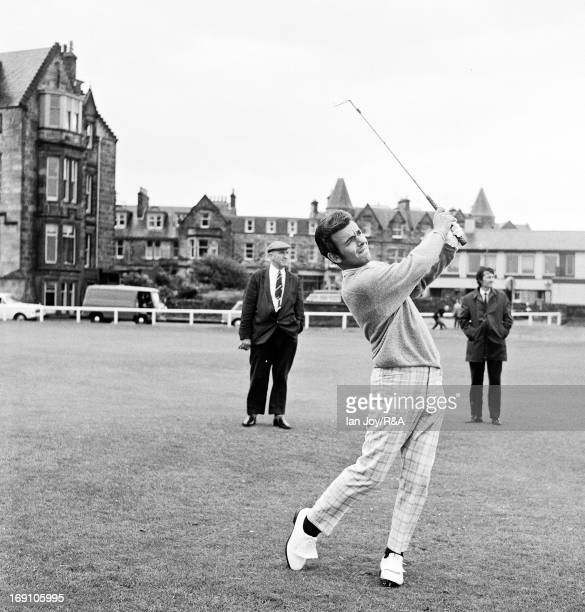 Tony Jacklin of England on the 1st fairway during the 1970 Open Championship on July 7, in St Andrews, Scotland.