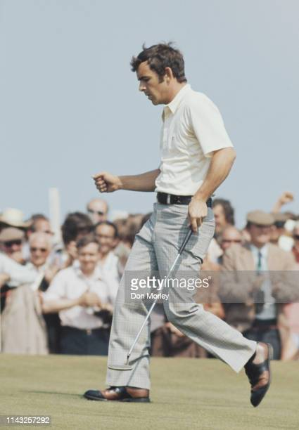 Tony Jacklin of Great Britain making a putt during the101st Open Championship on 15 July 1972 at the Muirfield Golf Links in Gullane, East Lothian,...