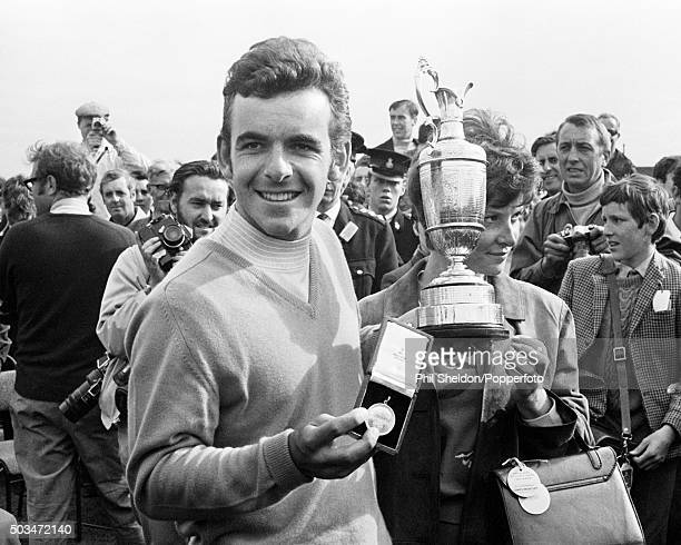 Tony Jacklin of Great Britain with the trophy after winning the British Open Golf Championship at Royal Lytham St Annes Golf Club on 12th July 1969
