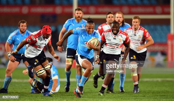 Tony Jantjes during the Currie Cup match between Vodacom Blue Bulls and Xerox Golden Lions at Loftus Versfeld on August 05, 2017 in Pretoria, South...